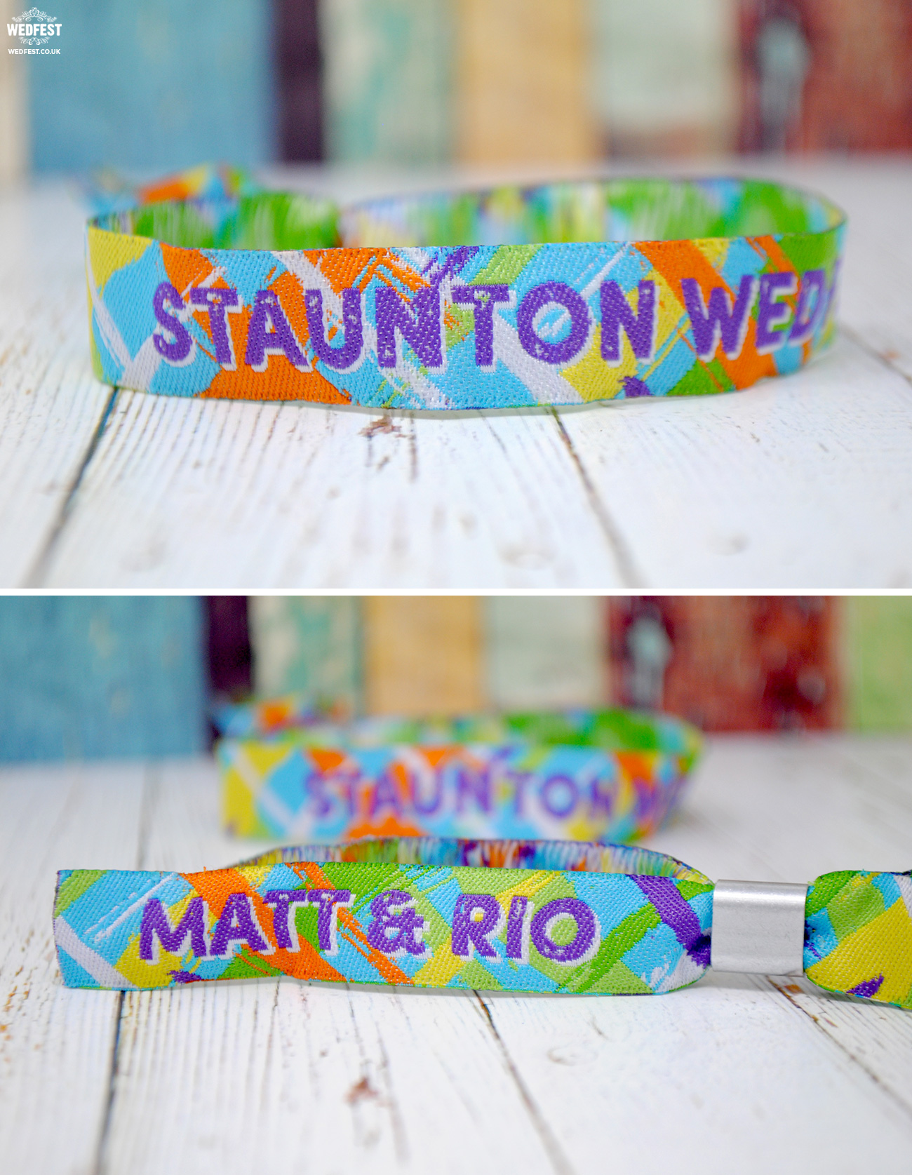 staunton wedfest festival wedding wristbands