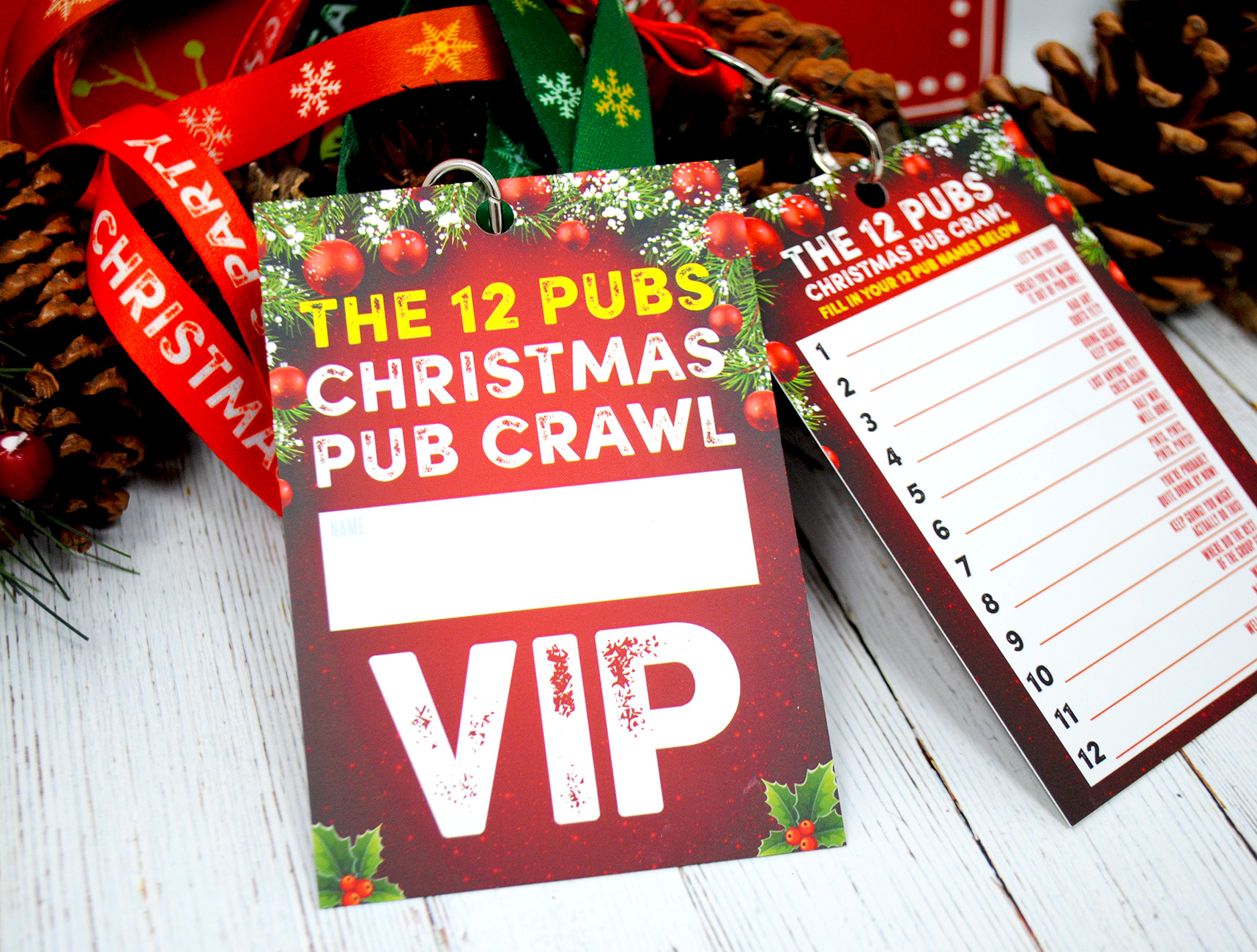 the 12 pubs christmas pub crawl list vip lanyards