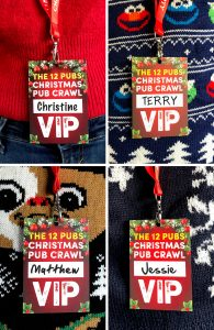 the 12 pubs of christmas pub crawl list guides lanyards