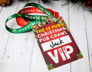 the 12 pubs of christmas vip lanyard guides