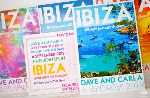 travel theme postcards wedding invitations