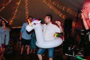 wedfest after party dancefloor unicorn