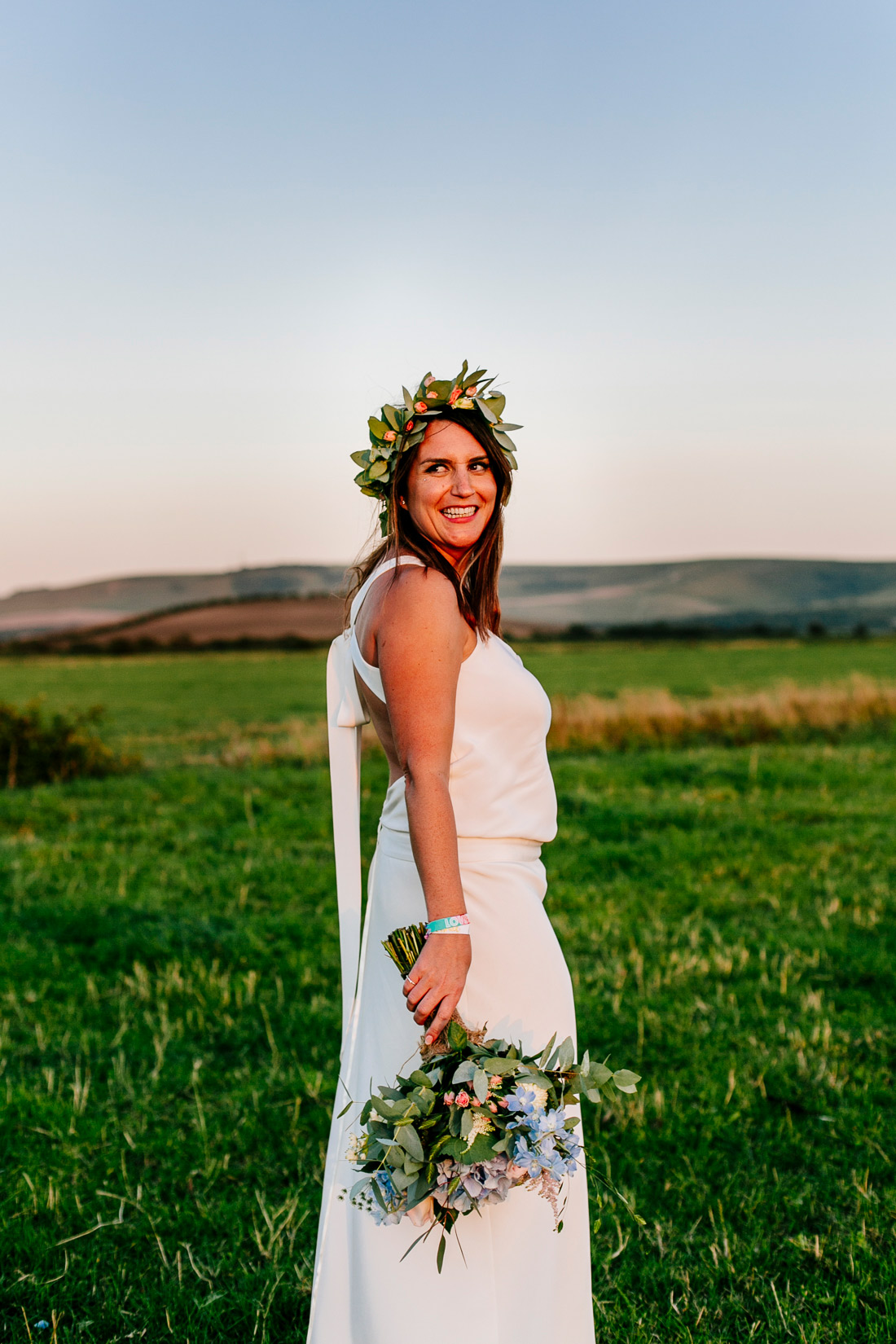 wedfest festival wedding wristbands festival bride