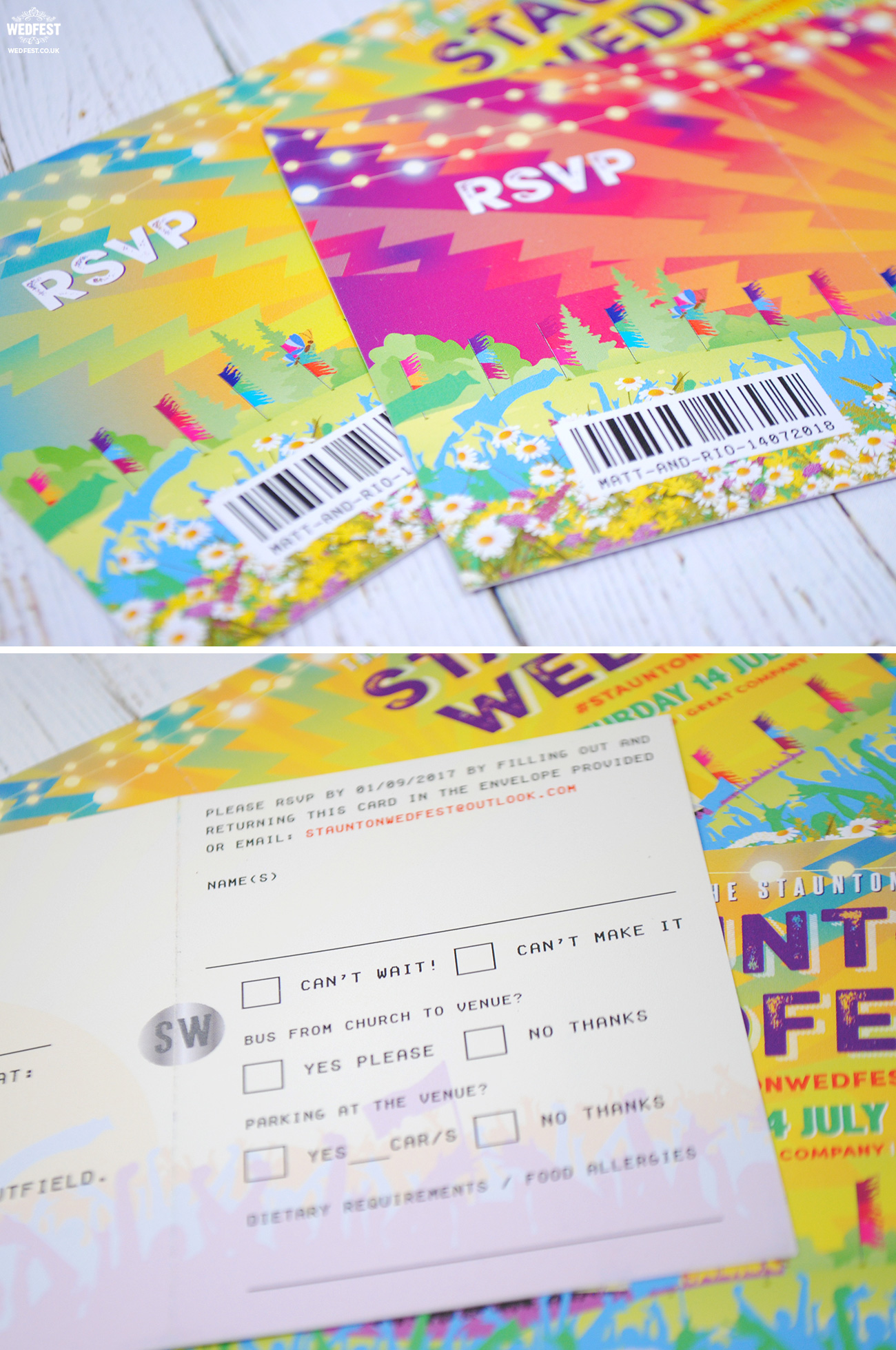 wedfest festival weddings invites