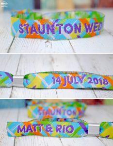 wedfest festival weddings wristbands favours