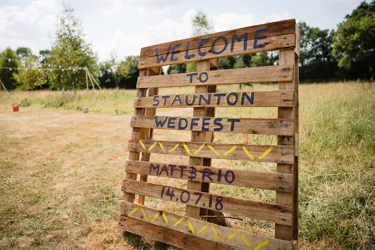 wedfest wooden pallet sign