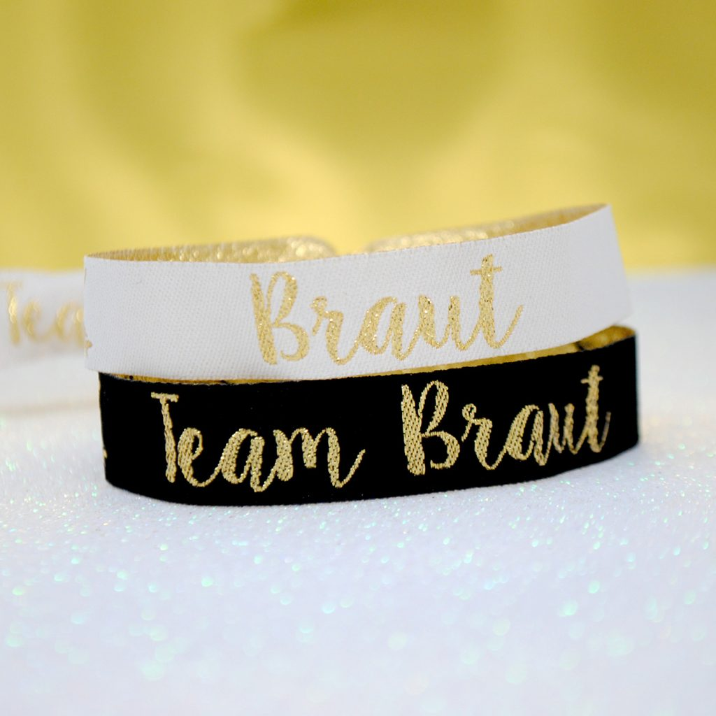 team bride team braut hen party wristband Armbänder