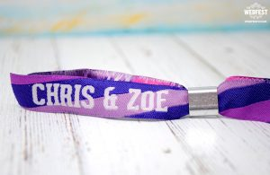 fabric wristbands for festival weddings