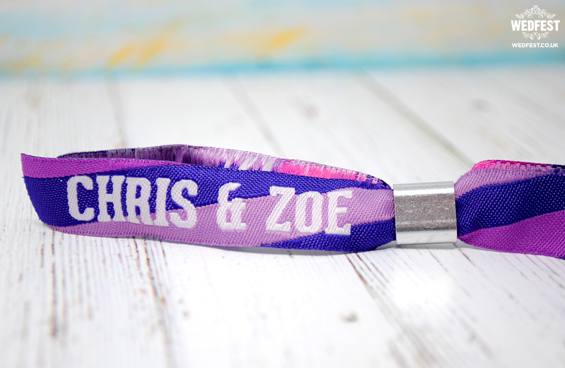fabric wristbands for festival weddings