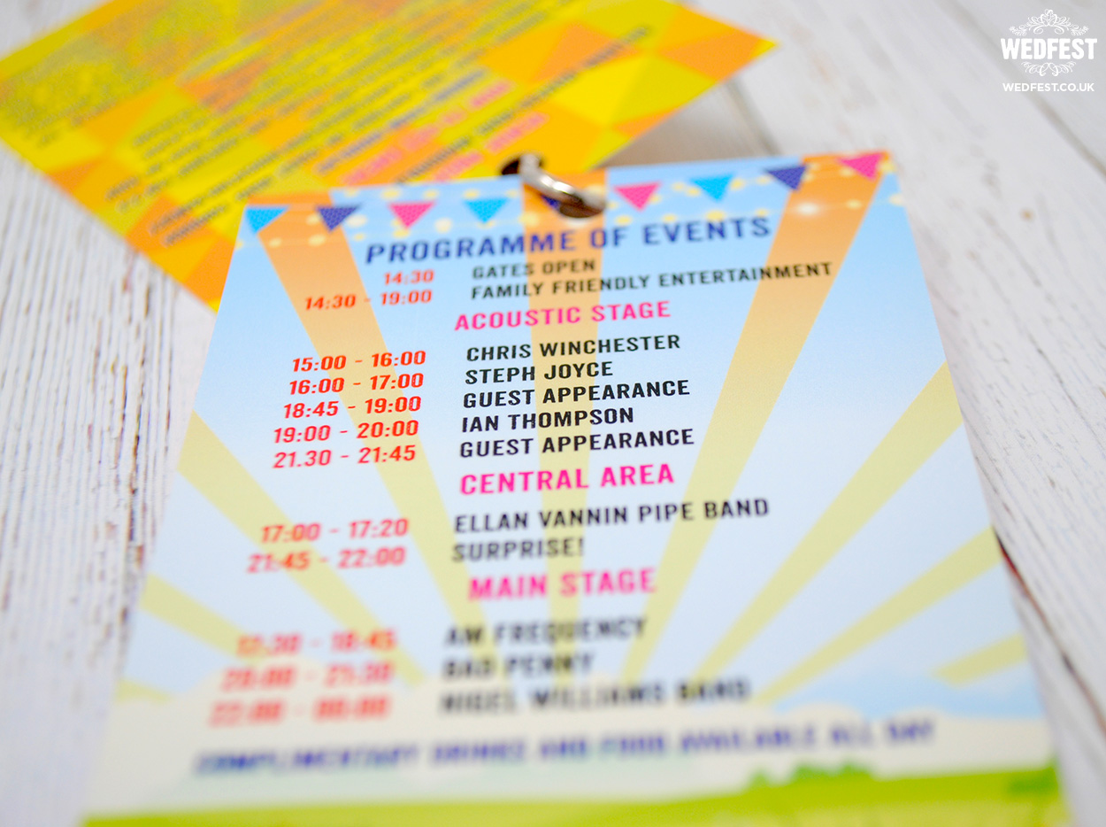 festival programme birthday party invite