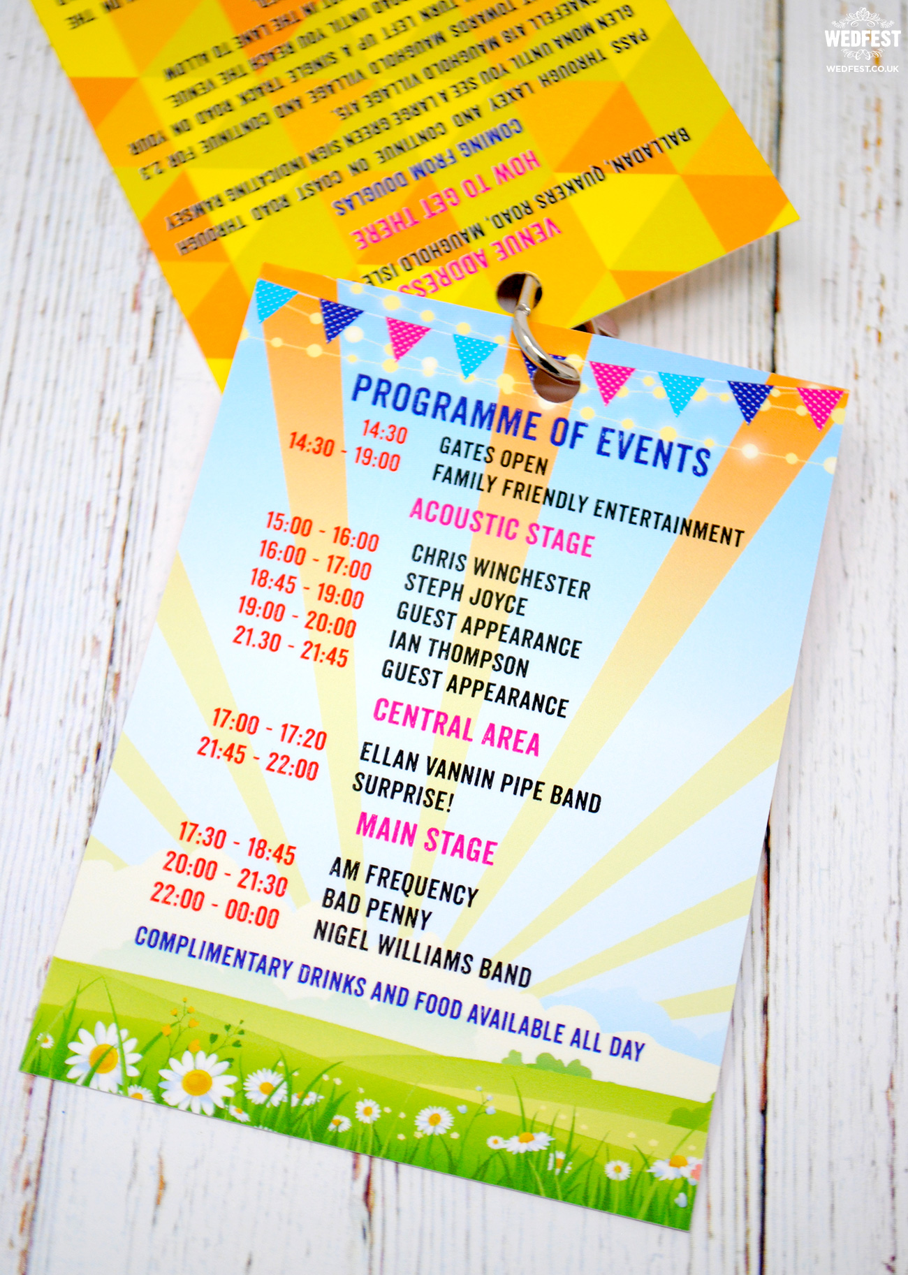 festival themed birthday invitation