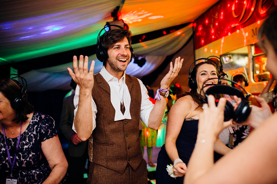 festival wedding silent disco
