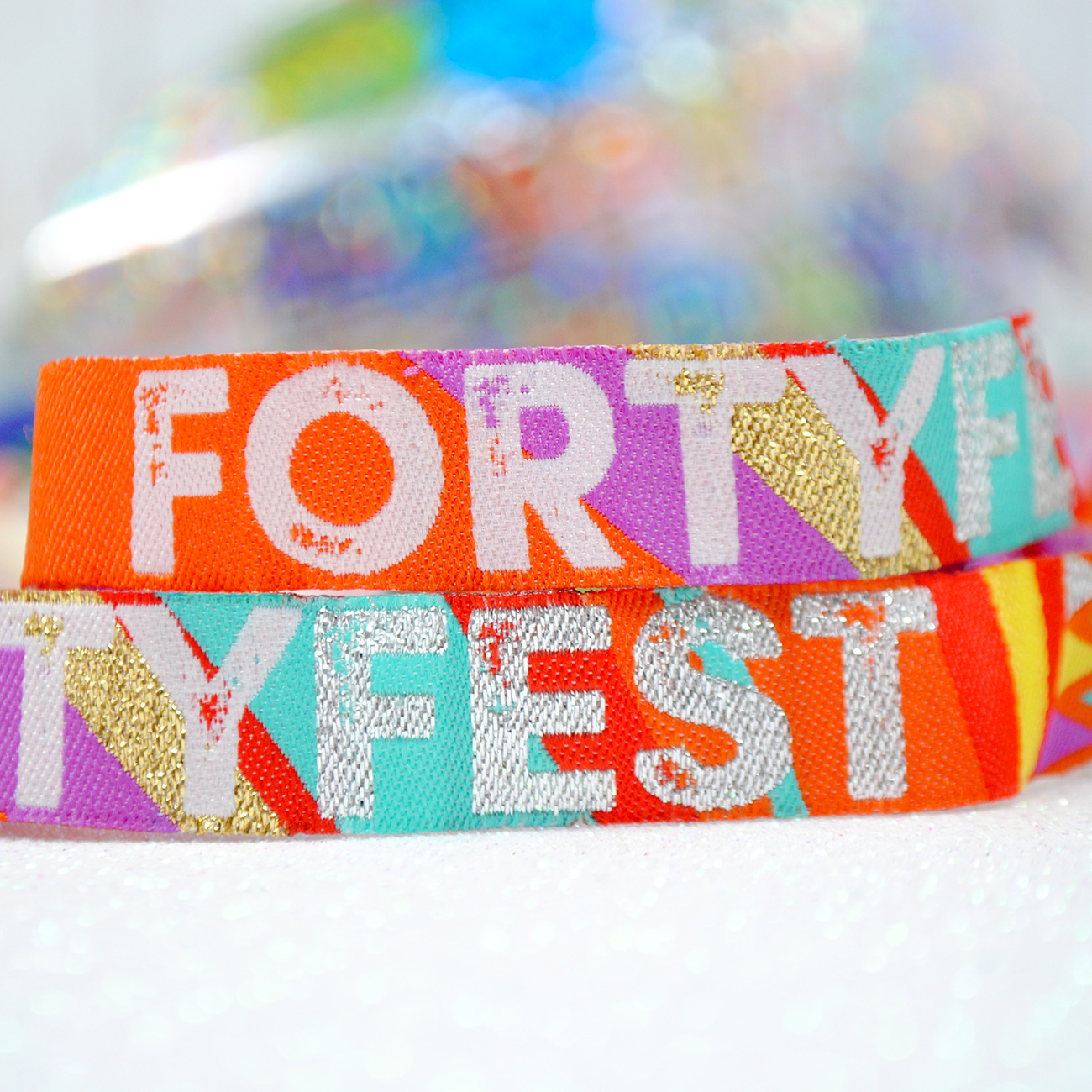 forty fest 40th birthday party wristbands