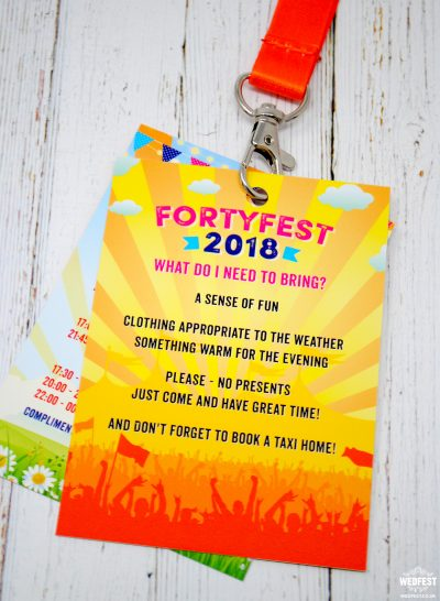forty fest festival birthday invitation