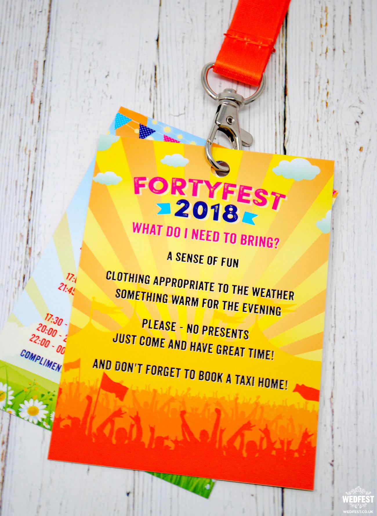 forty fest festival birthday invitation