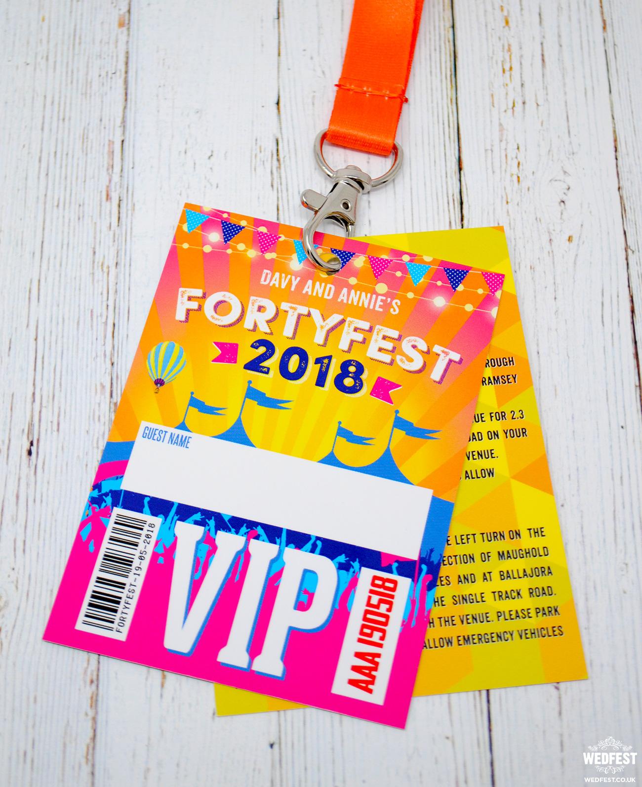 fortyfest festival 40th birthday invitations