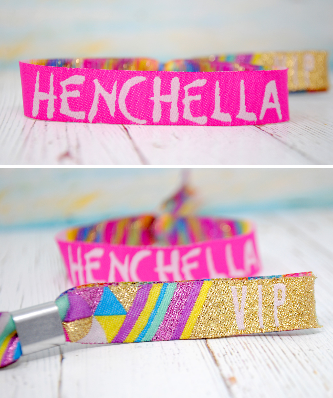 henchella festival hen party wristband accessories