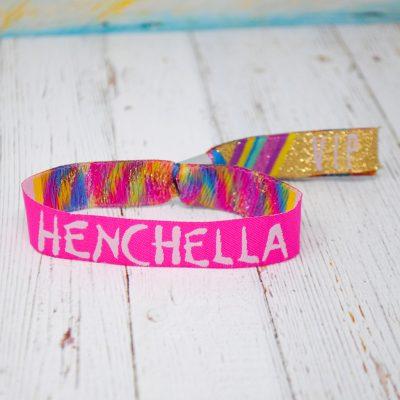 henchella festival hen party wristbands