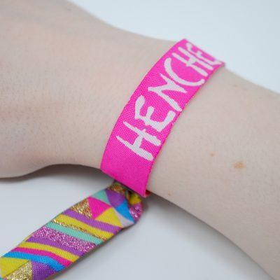 henchella festival theme hen bachelorette wristbands