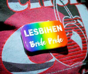 lesbihen lesbian hen party badge
