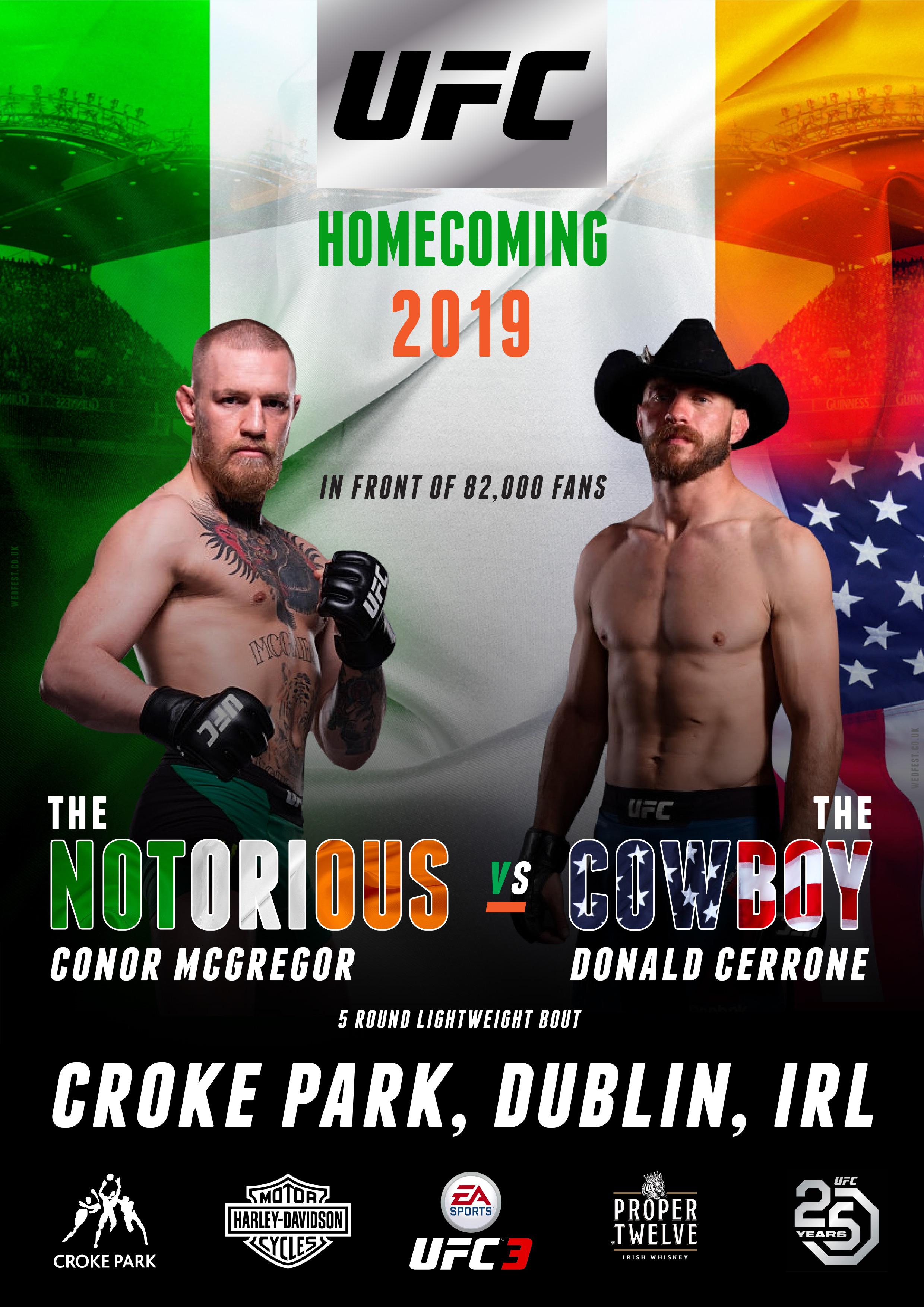 ufc notorious conor mcgregor Vs cowboy donald cerrone croke park dublin ireland