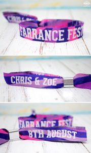 woven fabric festival wedding wristbands