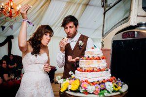 zoe chris festival wedding cake wristbands