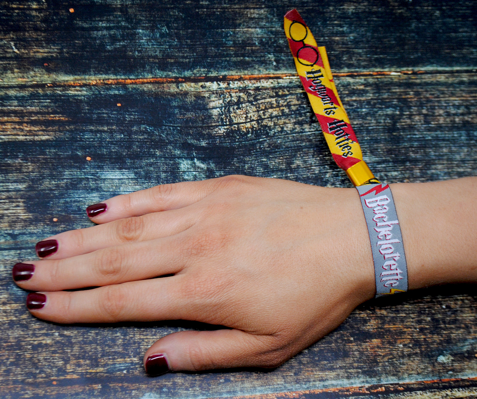bachelorette party harry potter theme wristband