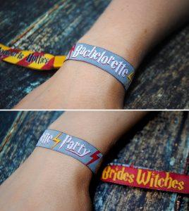 harry potter bachelorette party wristband favors