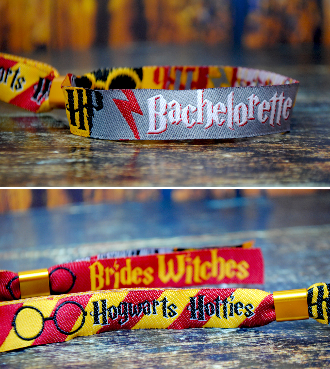 harry potter bachelorette party wristbands