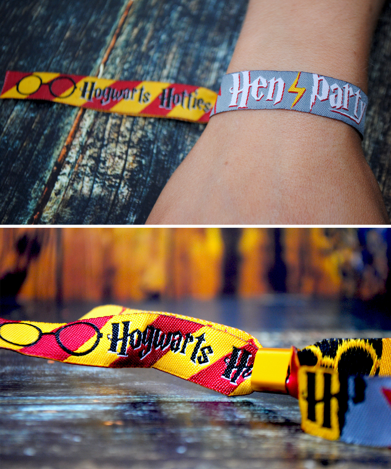harry potter hen do wristbands