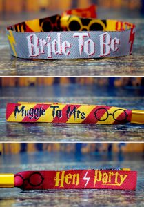 harry potter hen party bride to be muggle to mrs wristband
