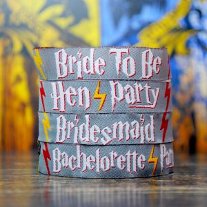 harry potter hen party themed wristbands