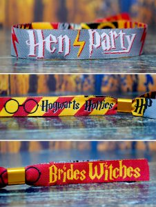 hen party harry potter themed wristbands