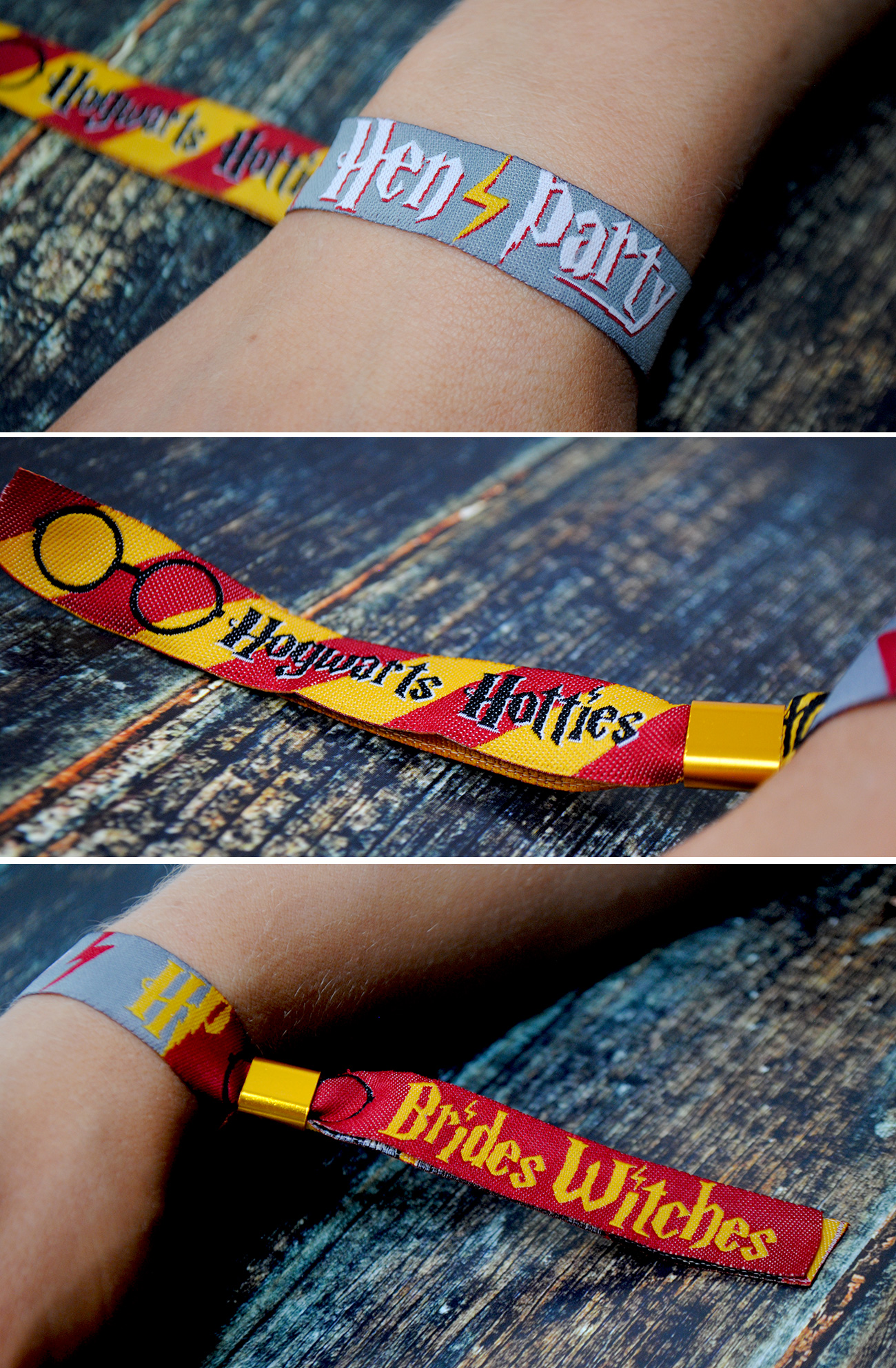 hen party wristband favours harry potter theme