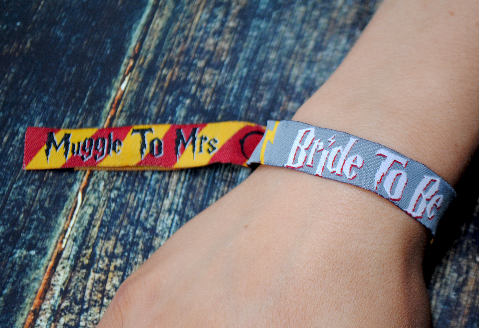 muggle to mrs hen party wristband harry potter