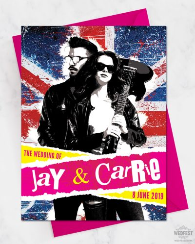 punk rock wedding invitations