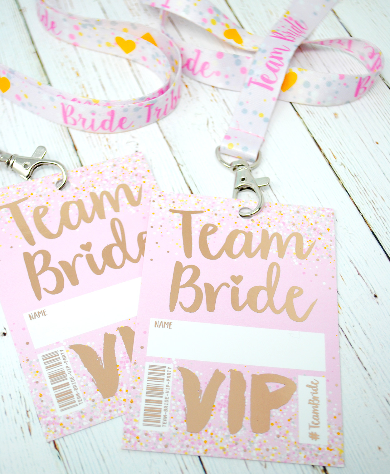 rose gold foil hen party bachelorette vip pass lanyards