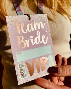 rose gold foil team bride tribe hen party favours accessories