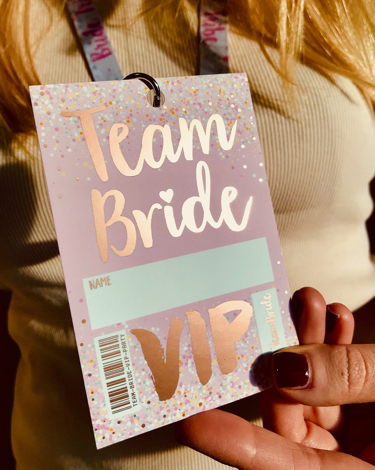 rose gold foil team bride tribe hen party favours accessories