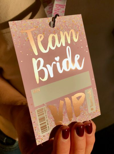 rose gold hen party vip pass lanyard
