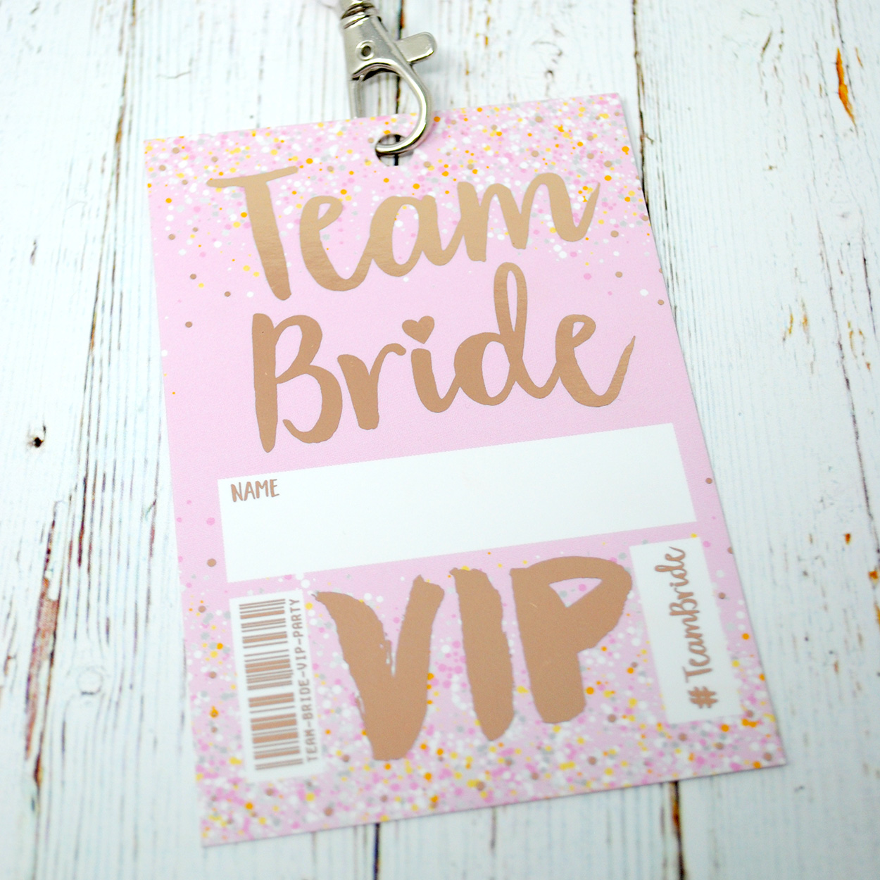 rose gold team bride hen party bachelorette vip lanyard