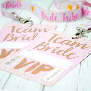 team bride hen party vip pass lanyards