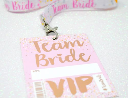 Rose Gold Team Bride VIP Pass Hen Party Lanyards