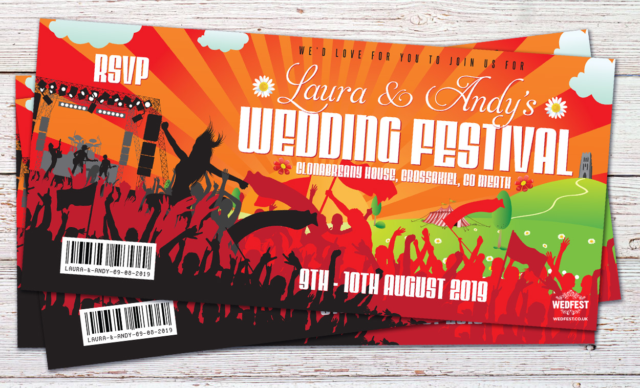 festival wedding wedding invites