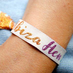 ibiza hen do wristbands favours