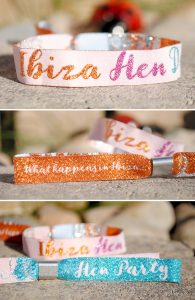ibiza hen party favours wristbands