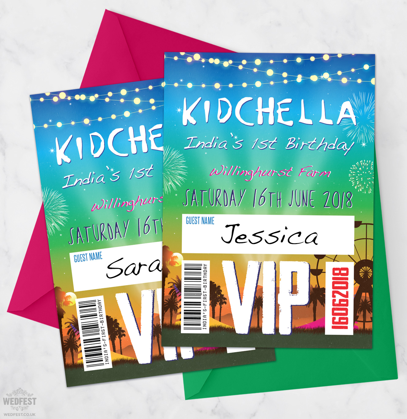 kidchella childrens festival birthday party invitations