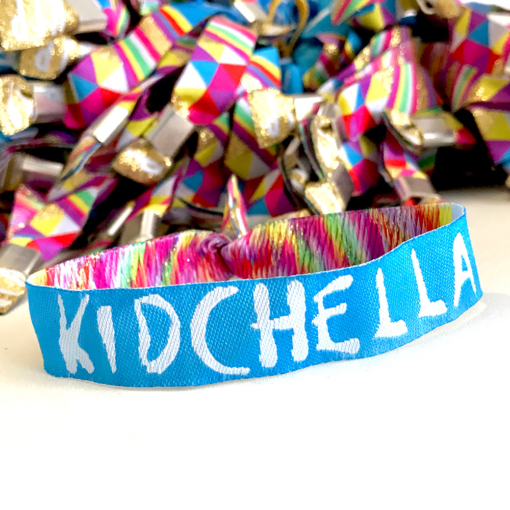 kidchella childrens party festival wristbands