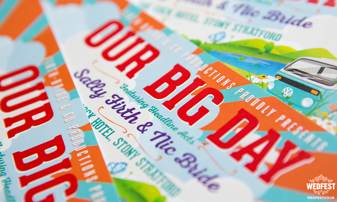 our big day festival wedding invitation